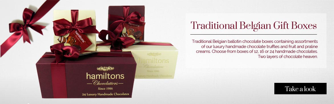 Luxury Belgian chocolate boxes