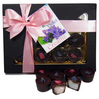 Rose & Violet 12 Chocolate Gift Box